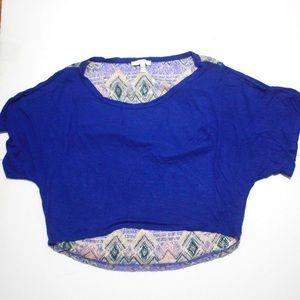 DELIA's Knit Back Crop Top